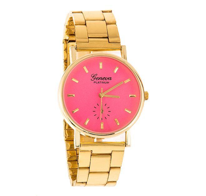 95b742698c56e Zegarek damski Geneva złota bransoleta kolor tarczy różowy A LA MICHAEL KORS  Z108