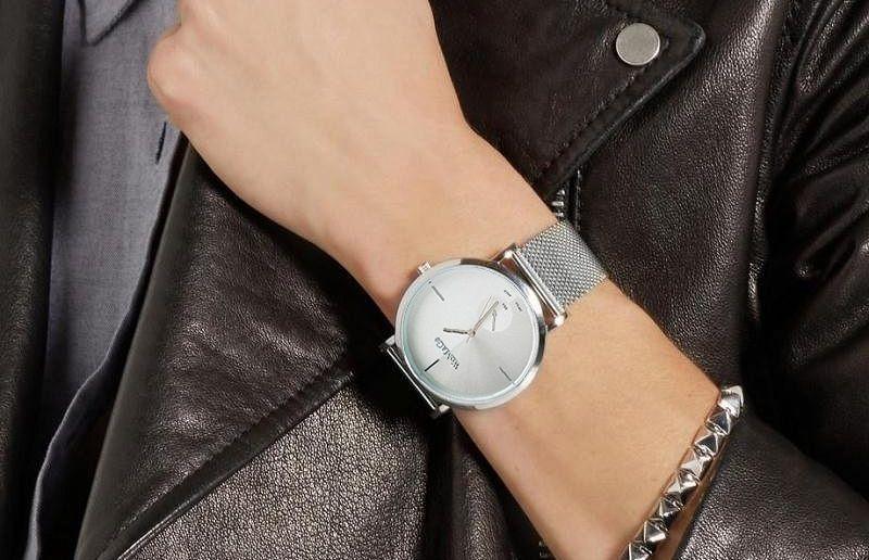damski zegarek biała tarcza